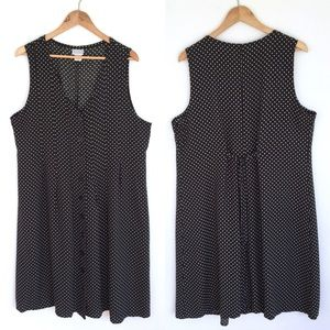 Sleeveless rayon polka dot dress
